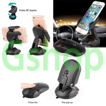 Gshop Universal Mobile Phone Transformer One Touch Car Holder 360 Degree Turn Around For All Mobile Phones
