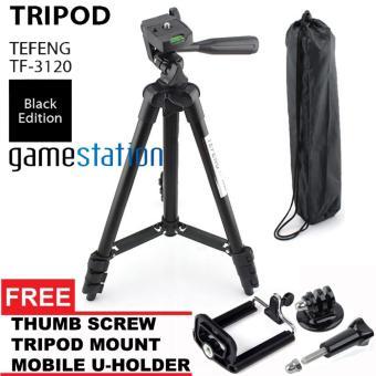 GStation Tripod Tefeng TF-3120 for Camera And Smartphone + U Holder + Tripod Mount