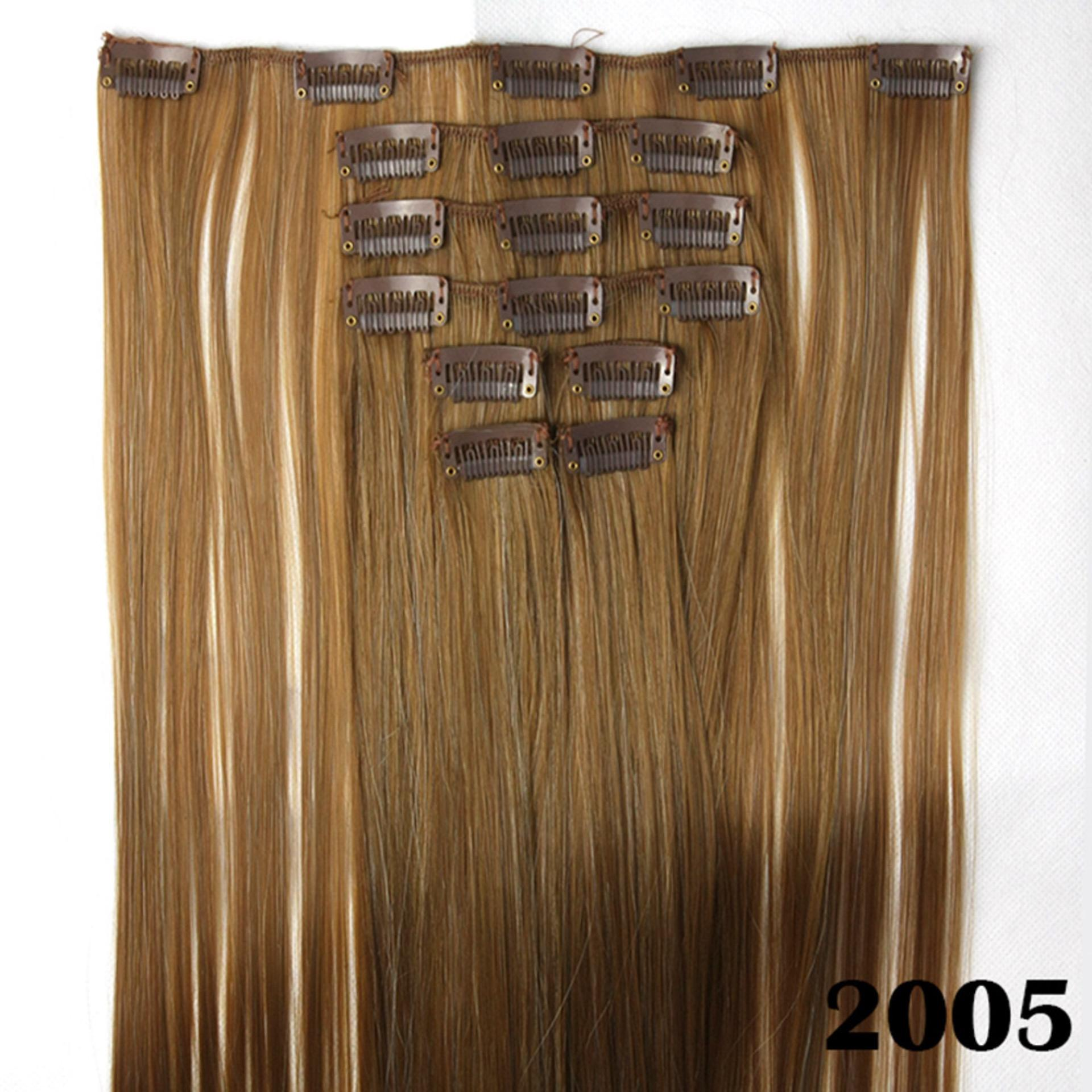 Hair Extension Perpanjangan Rambut model klip clip wigs long straight 60 cm 2005