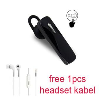 Handsfree Bluetooth + Hedset Kabel For OPPO F3/F3 Plus - Hitam