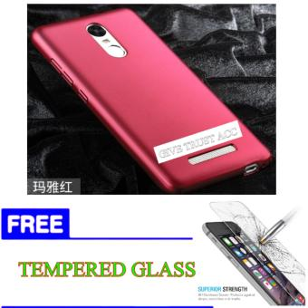 Hard Case for Xiaomi Redmi NOTE 3 / 3PRO + FREE TEMPERED GLASS Bening.