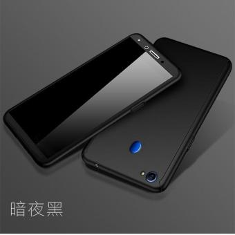 Hardcase 360 Oppo F5 / Youth Full Body Case Casing Cover Free Tempered - HITAM
