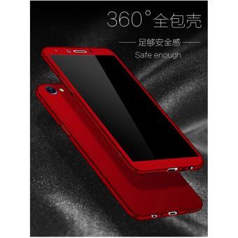 Hardcase 360 Oppo F5 / Youth Full Body Case Casing Cover Free Tempered - MERAH