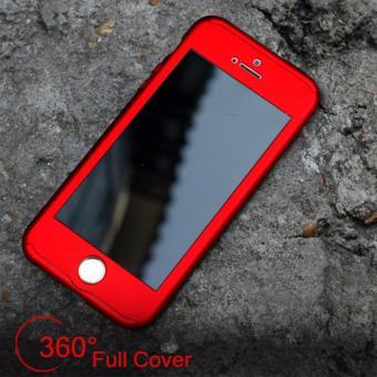 Hardcase Case 360 Iphone 5/5s/5SE Casing Full Body Cover - Merah +