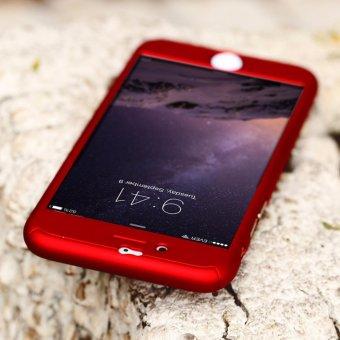 Hardcase Case 360 Iphone 6 / 6s Casing Full Body Cover - Merah + Free Tempered