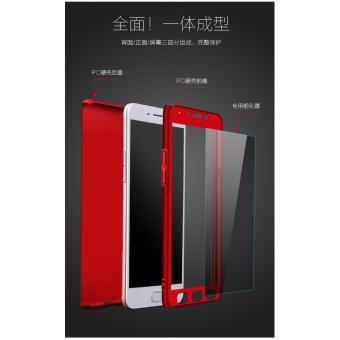 Hardcase Case 360 Oppo F5/ F5 Youth Casing Fullset Free Tempered Glass - MERAH