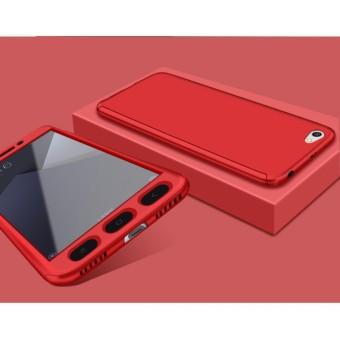 Hardcase Case 360 Xiaomi Redmi Note 5A Full Casing Free Tempered - MERAH