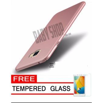 Hardcase Case For Samsung Galaxy J7 Prime / ON7 Ultra Slim Shockproof Premium Matte elegan Free Tamper Glass ...