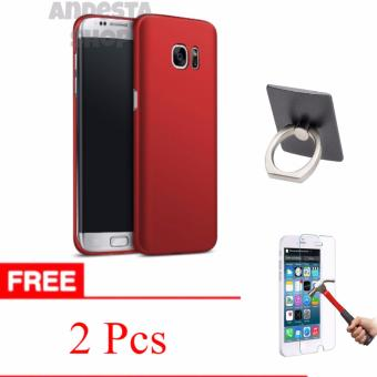 Fitur Hardcase For Samsung Galaxy S7 Edge Free Tempered Glass Iring