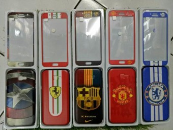 Hardcase Soft Case Gambar Timbul Free Tempered Glass Samsung J5 Prime