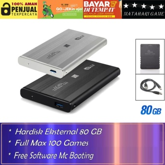 Hardisk Eksternal PS2 80GB - Support Semua FAT Series Playstation 2 - Best Quality