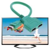 Detail Gambar Port Steker HDMI Ke 2 Female 1 Di 2 Keluar Kabel Cabang Adaptor Converter (Hijau)-Intl Terkini