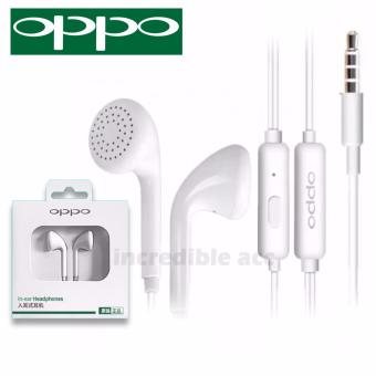 Headset OPPO MH133 Handsfree Earphone Headset OPPO  3.5mm Jack In-Ear Music Earphone - Putih