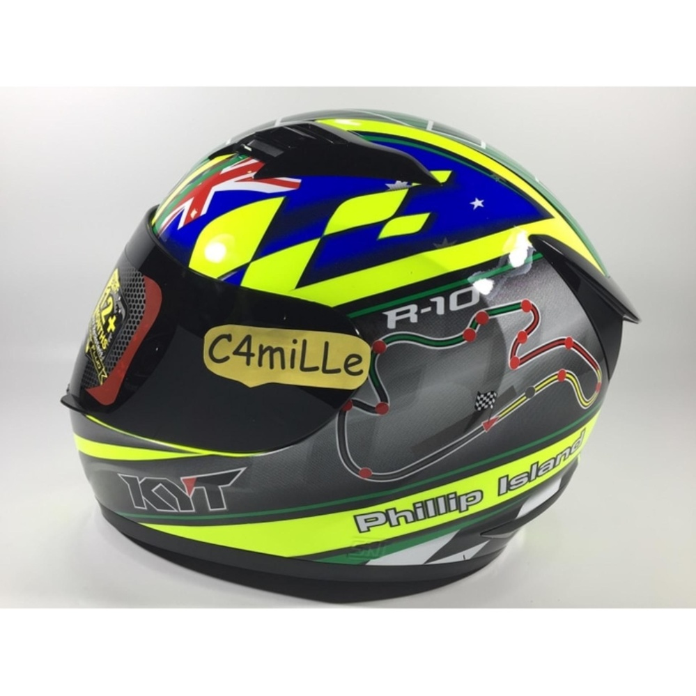 Features Helm Nhk Gp Pro Gppro Full Green Yellow Fluo Misano Missano Face Gp1000 Xvision Kyt R10 Philip Island Rc Circuit Blue