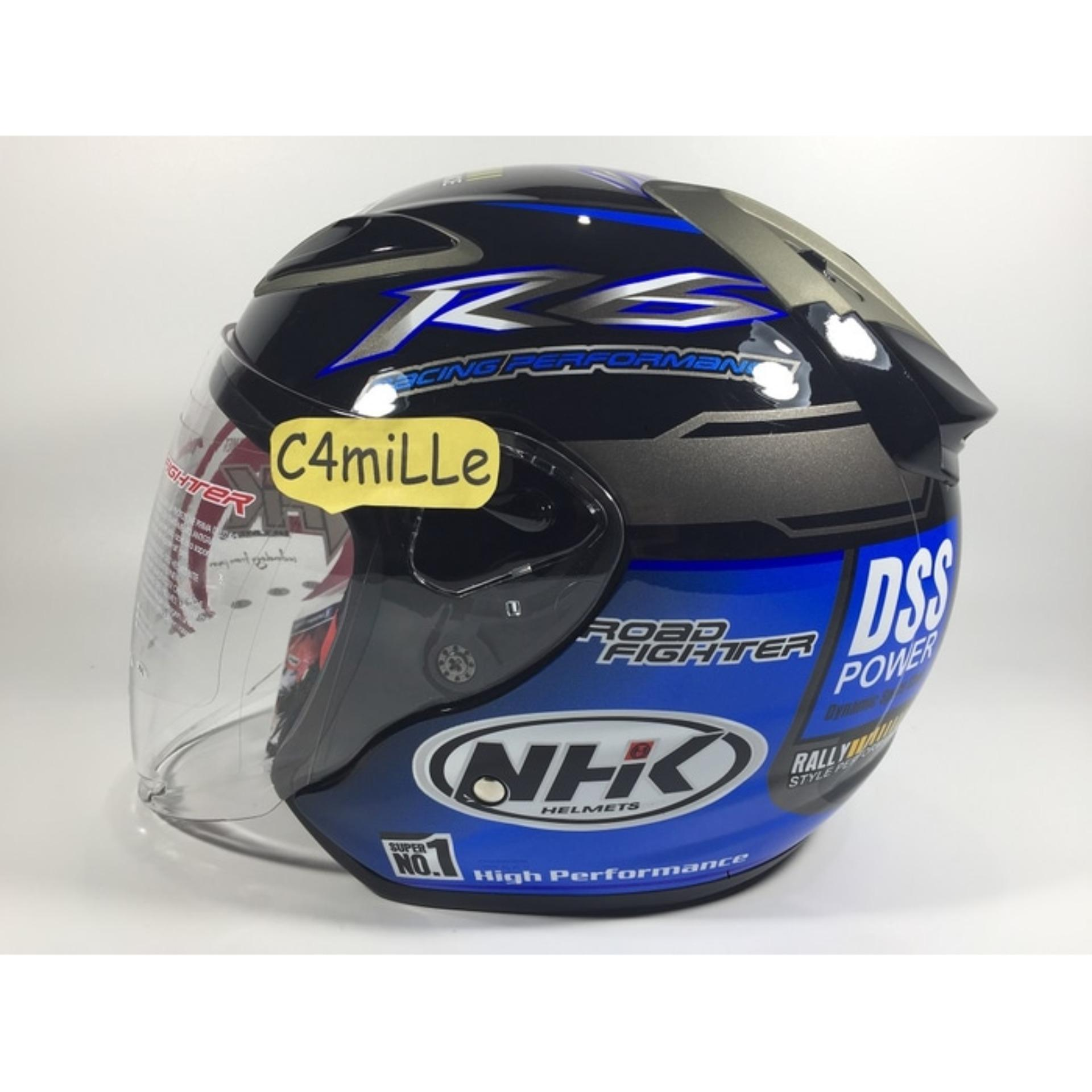 Helm NHK R6 Rally Black Blue Half Face