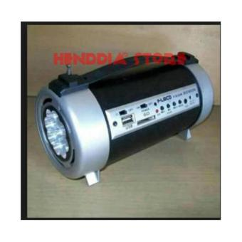 henddia Fleco F-912UR Speaker Tabung Bass USB/Sd + Radio FM & Lampu Senter LED