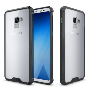Hicase Transparent Hard Back Cover + TPU Frame Slim Scratch Protective Case Fit for Samsung Galaxy