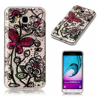 Hot Upscale Butterfly flowers TPU Soft Gasbag Back Case Cover For Samsung Galaxy J3(2016
