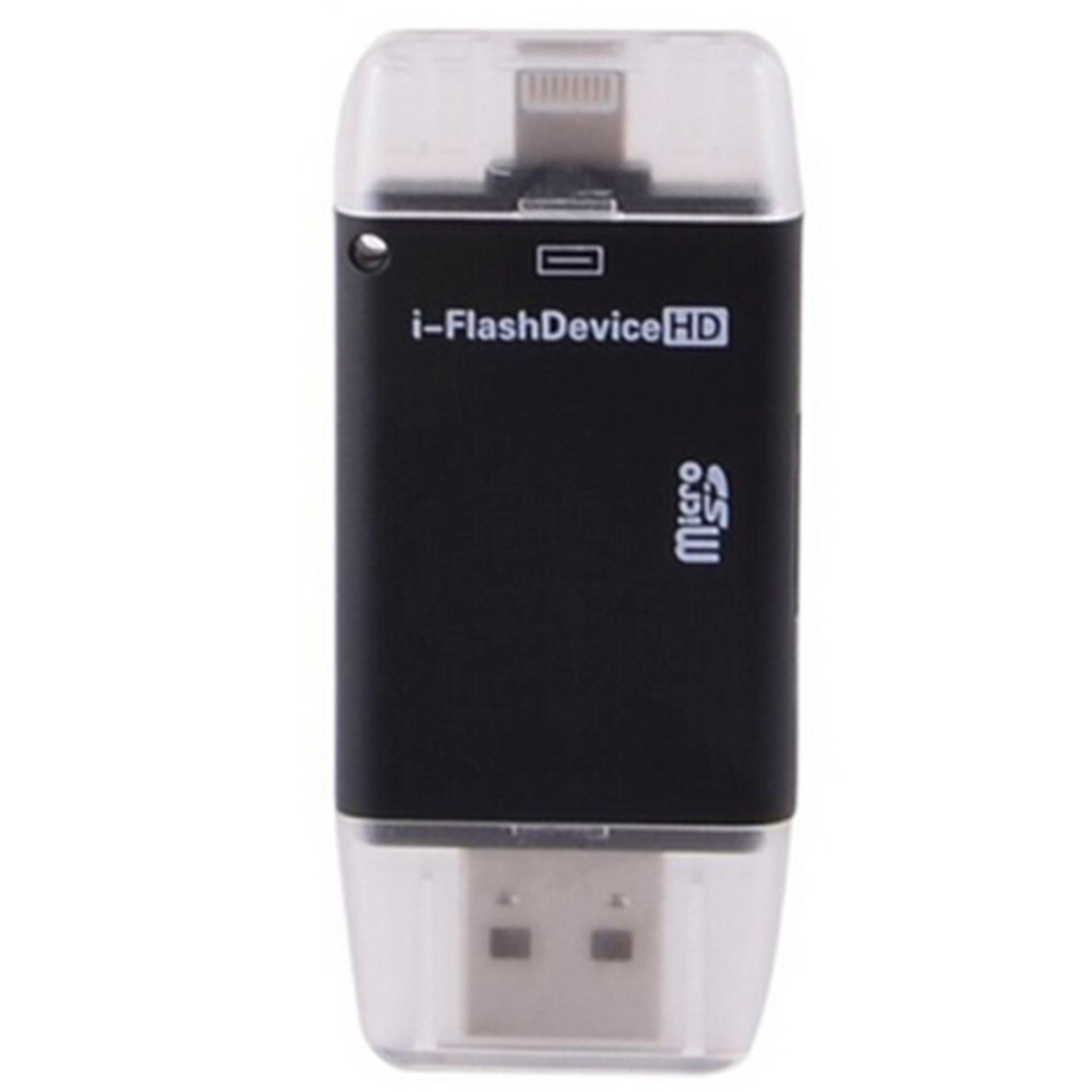 Cek Harga Baru 4 In 1 Lightning Memory Card Reader External Storage Apple Garansi Usb Kabel Data Iphone 6 Plus5 S I Flashdrive Otg For Ipad Bulan