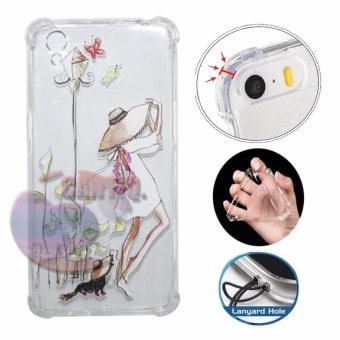 Icantiq Case Anti Crack 3D Oppo A37 Neo 9 Case Luxury Animasi Fashion Girls Softcase Anti