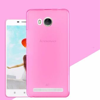 Icantiq Ultrathin Case Lenovo A6600 Luxury Softcase Anti Jamur Air Case 0.3mm / Silicone Lenovo A6600 Soft Case / Silikon / Case Hp / Jelly Case / Softshell - Pink Transparant