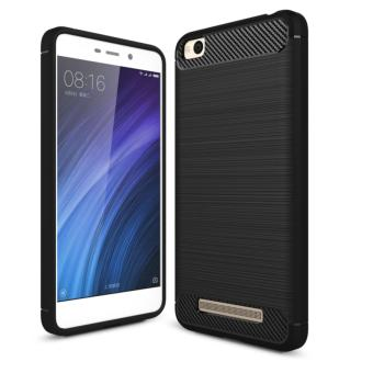 iCase iPaky Carbon Shockproof Hybrid Case for Xiaomi Redmi 4a - Hitam