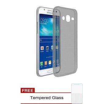 Case Samsung Galaxy J2 J200 Ultrathin Aircase Hitam Clear Gratis Tempered Glass