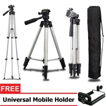 Harga Weifeng Portable Tripod Stand 4 Section Alumunium Legs WT-3110A - Silver