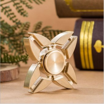 Harga GLiving Tri-spinner Gyroscope Torqbar Brass Fingertips Stress Metal Hand Fidget Spinner Gyro EDC Torque Gyro Auto Casual Decorative toy - intl