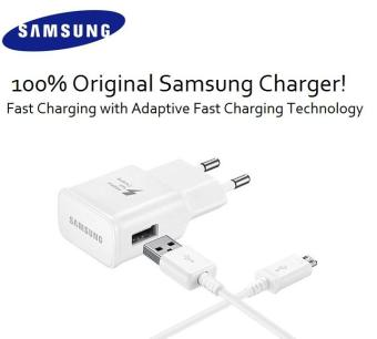 Harga Samsung Travel Charger Fast Charging for Samsung Galaxy Note 5 / S6 / S6 Edge / S7 / S7 Edge Original - White