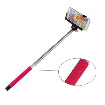 Harga Monopod Tongsis Bluetooth for Android and iOS + Holder L - Pink