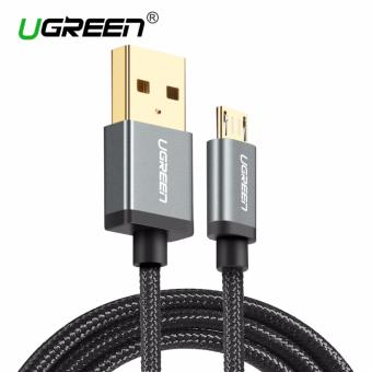 Harga UGREEN Nylon Braided Micro USB Cable Sync Data Charging Cable for Android Phone - 2m,Black - intl