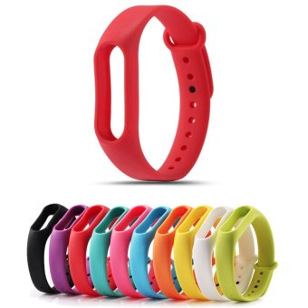 Harga Replace Strap for Xiaomi Mi Band 2 Version MiBand 2 Silicone Wristbands for Mi Band 2 Smart Bracelet 10 Color for Xiao Mi Band 2 - intl