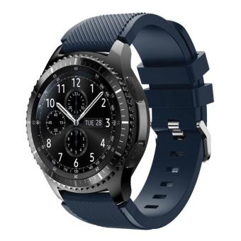 Harga Trendy Sports Silicone Watch Strap Replacement for Samsung Gear S3 Frontier / S3 Classic - Black Blue - intl