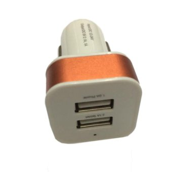 Harga Icantiq Car Charge/Charger Mobil USB 2in1 Output 5V-2.1 A - Orange