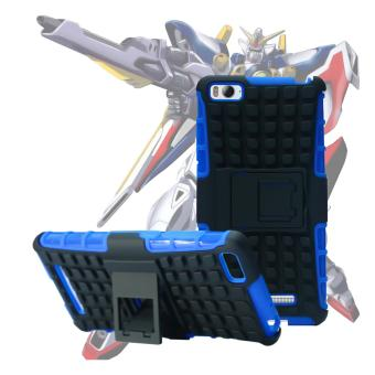 Harga Case for Xiaomi Mi 4i / Mi 4c Robotic Rugged Armor With Kickstand - Blue