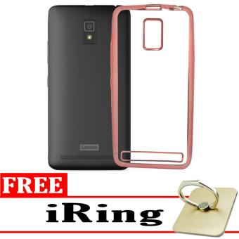 Softcase Silicon Jelly Case List Shining Chrome for Lenovo A6600 - Rose Gold + Free iRing