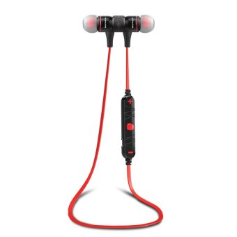 Harga Awei A920BL Noise Reduction Bluetooth Sport Headset with Mic(Red)