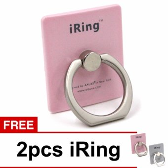 Harga iRing Stand Mobile Phone Holder 360 Degree Rotation With Hook Rose + Free 2 Pcs iRing