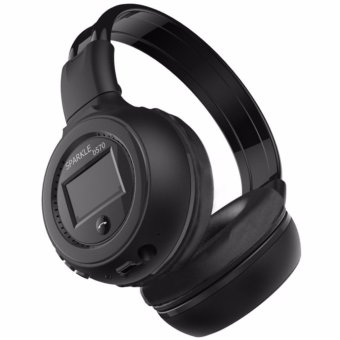 Harga Zealot B570 Wireless Bluetooth Headphone Dengan FM TF Headphones Earphone Headset Musik Lagu MP3 Smartphone Handphone iPhone Peralatan Audio Video Music Nyaman Fleksibel Ringan Bisa Dilipat Battery BL-5B 600mAh 3.5mm Aux Port - Hitam