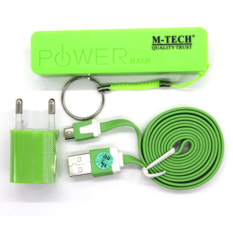 Harga M-Tech Power Bank Komplit Set 2000mah - Hijau - Power Bank