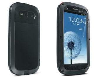 Harga LOVE MEI Metal + Silicone Powerful Defender Case for Samsung Galaxy S3 I9300 - Black - intl