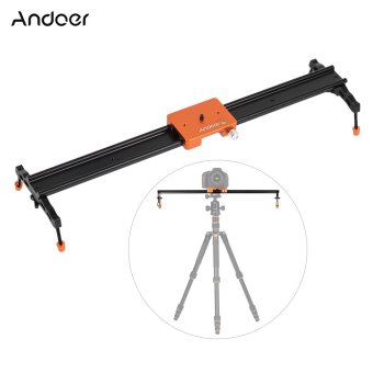 "Harga Andoer 60cm/23.6"" All Metal Aluminum Alloy Video Track Slider Dolly Rail Stabilizer Max. Load 6kg for Canon Nikon Sony DSLR Cam Camera Camcoder - intl"