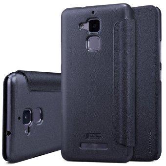 Nillkin Flip Leather Cover for Asus Zenfone 3 Max 5.2 ZC520TL - Hitam