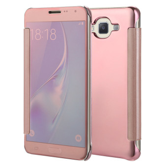 Harga TKOOFN Mirror Pure Color Shockproof Case Cover Folio For Samsung Galaxy J7(2015 Version)-Rose Gold - intl