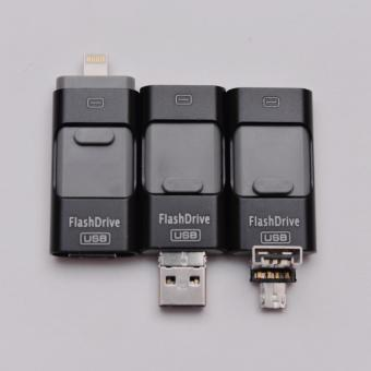 OTG Iphone Android 3 in 1 64GB Flashdrive BLACK | usb otg android iphone | otg