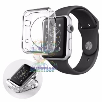Harga Ultrathin Jelly Protection Crystal Case For Apple Watch Apple Watch 38 mm 1st Generation iWatch Soft Silicone / Pelindung Jam / Silicone Apple Watch - Bening