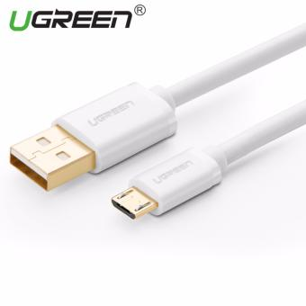 Harga UGREEN 1.5m Premium Micro USB 2.0 Data Sync Charging Cable (White) - Intl