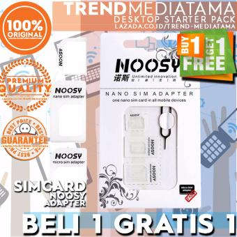 Harga Nossy 3in1 Sim Card Adapter + Sim Card Tray Holder / Conventer Sim Card Adapter - Putih Promo beli 1 gratis 1