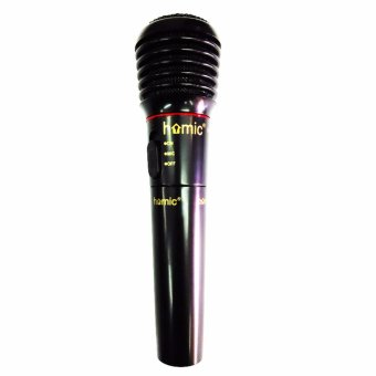 Harga Homic HM-308 Microphone Single Wireless Dan Kabel - Hitam